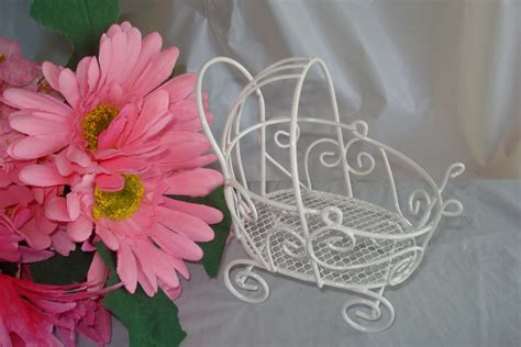 vintage mini wire baby carriage great for baby shower