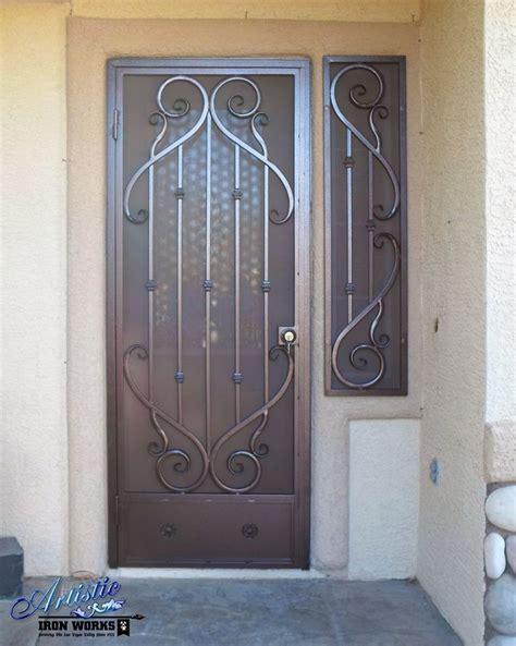 Iron Security Doors by Wrought Iron Security Door Sd0167 Wrought Iron