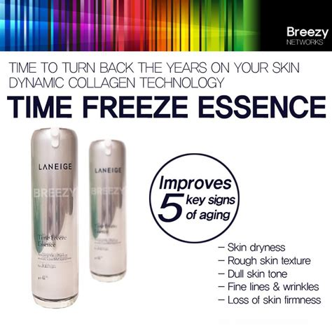 Laneige Time Freeze Essence breezy total anti aging essence that improves 5 sign of aging laneige time freeze essence