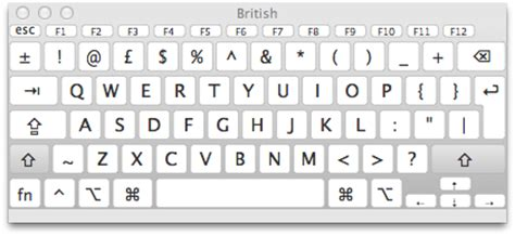 us keyboard layout key names osx lion how can i type a 163 pound sign character on my