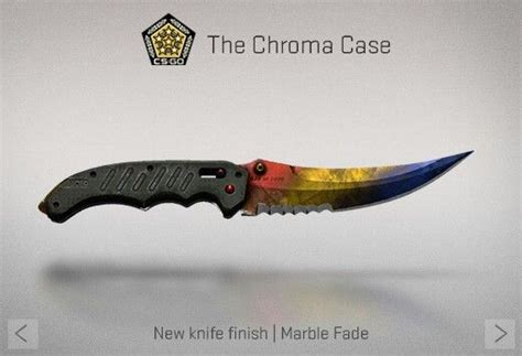 cs go knife pattern marble fade counter strike global offensive the chroma case flip