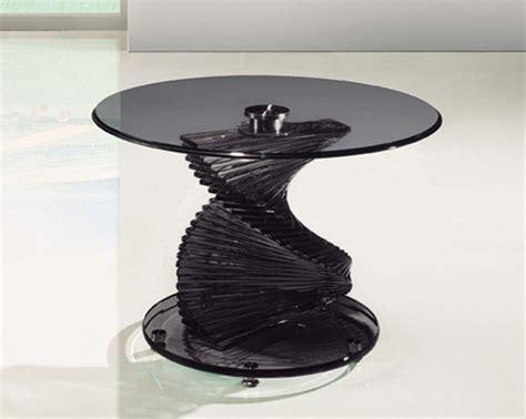 smoked glass table l twirl glass smoked coffee table portofino glass coffee