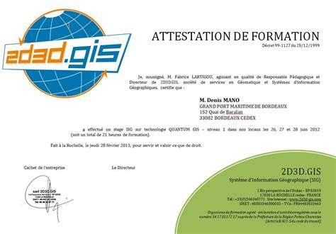 modele attestation formation interne document