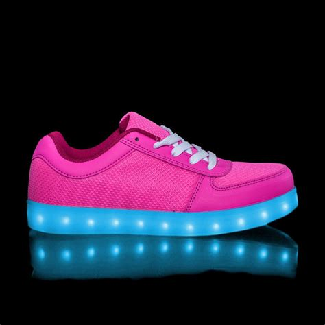 white lights cheap led light up trainers for adults pink white cheap