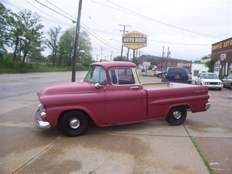 sell used 1958 chevy apache truck 3100 fleetside shortbed
