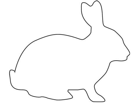 rabbit cut out template easter bunny outline template cut out rabbit litle pups