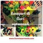 elenco fiori autunnali bouquet di fiori con girasoli un elenco di varie composizioni