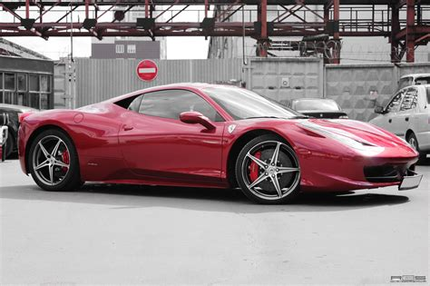 chrome ferrari 458 made to stand out red chrome ferrari 458 italia
