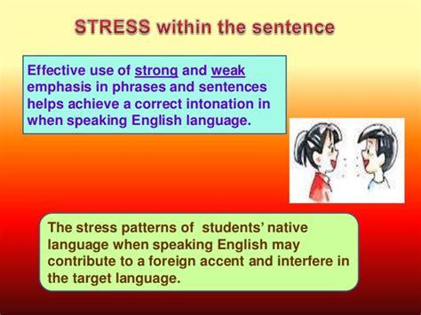 stress pattern english language 5 sentence stress