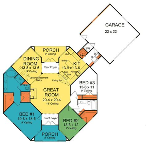 Octagon Shaped House Plans by Octagonal Cottage Home Plan 42262wm Architectural