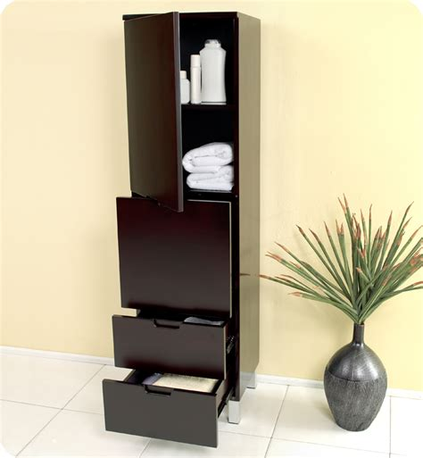 Espresso Bathroom Storage 15 75 Quot Fresca Fst1040es Espresso Bathroom Linen Cabinet W 4 Storage Areas Side Cabinets