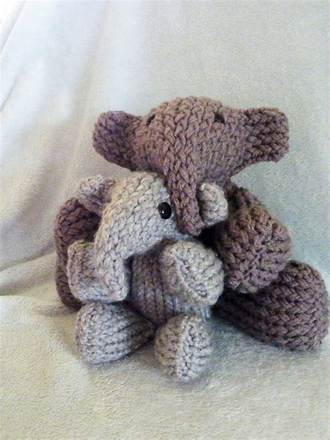 how to knit stuffed animals elephant loomahat