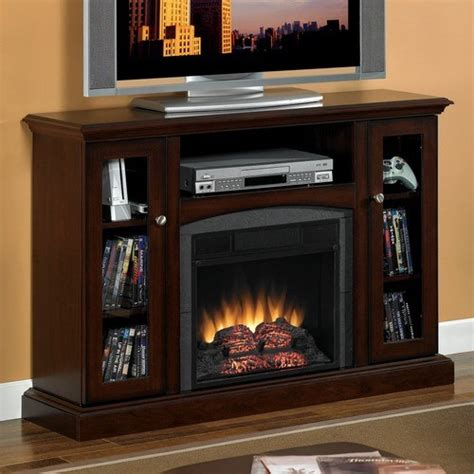 Modern Electric Fireplace Tv Stand by Advantage Bancroft 47 Quot Tv Stand With Electric Fireplace