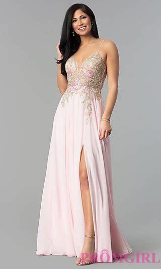 Flow Sequin Dress For Big Size illusion v neck open back prom dress promgirl