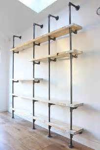 industrial racks and shelving best 25 wall mounted bookshelves ideas on