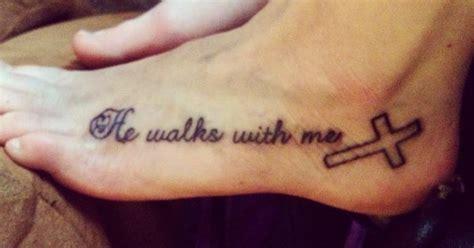 he walks with me tattoo he walks with me s idea s walks