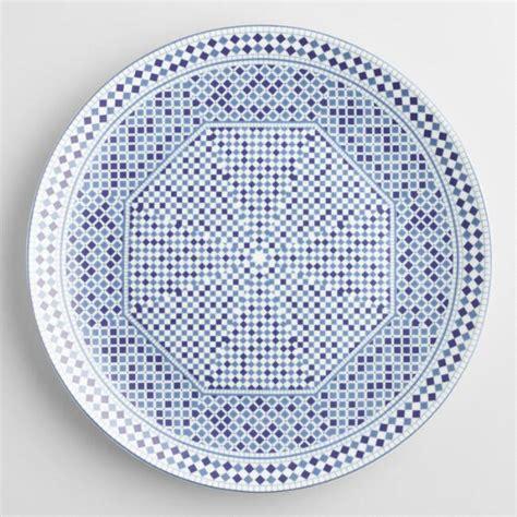 To Market Recap Outdoor Plates by Blue Fez Tile Dinner Plates Set Of 4 World Market