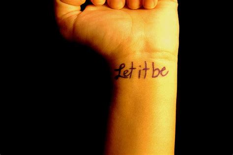 let it be wrist tattoo 32 fabulous let it be wrist tattoos