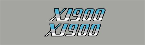 Yamaha Xj 900 Aufkleber by 1983 Yamaha Xj900 Side Cover Logos Decals Rddecals