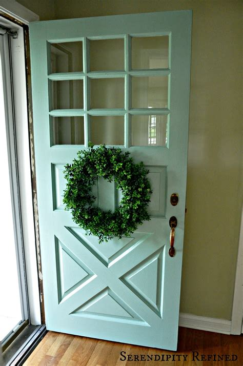 serendipity refined turquoise painted wood exterior doors
