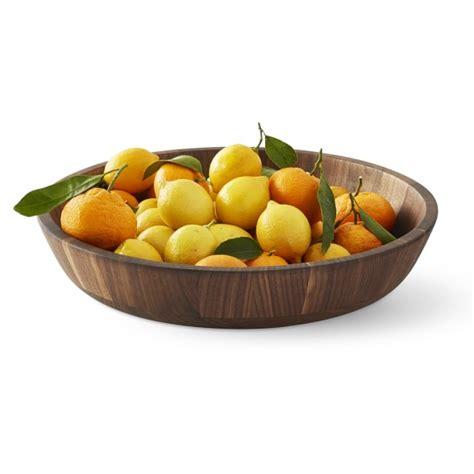 fruit bowl walnut fruit bowl williams sonoma