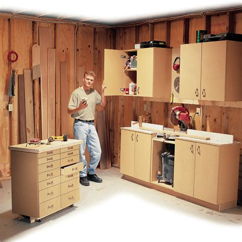cabinet design plans free simple all purpose shop cabinets popular woodworking