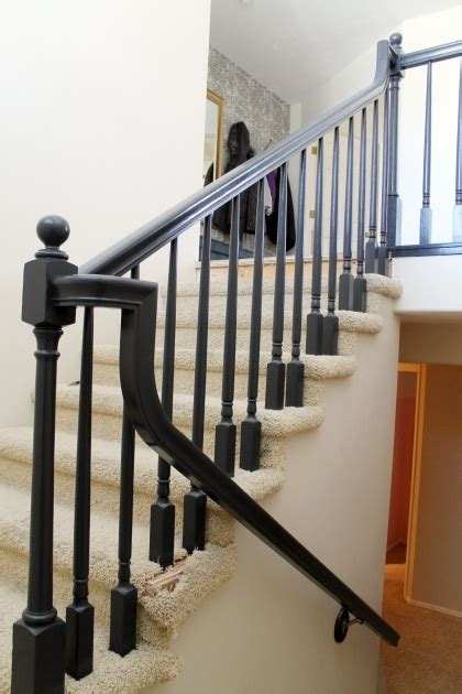 replace banister and spindles stair handrail height stairs design ideas