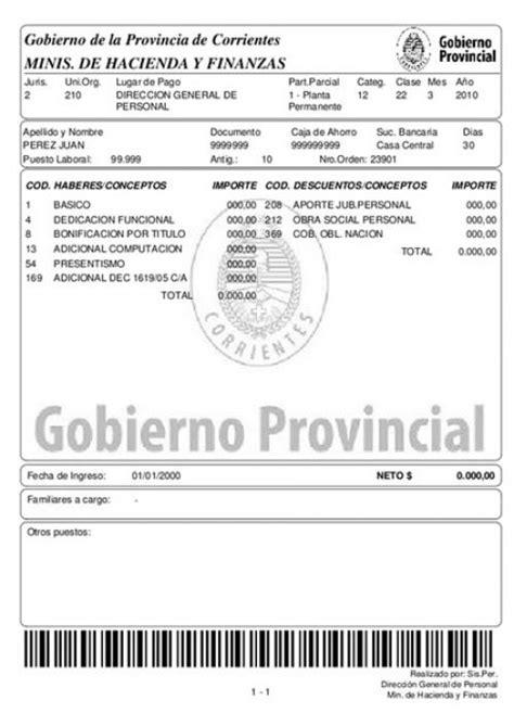 recibo de sueldo provincia de corrientes nuevo recibo de sueldo para estatales corrientes online