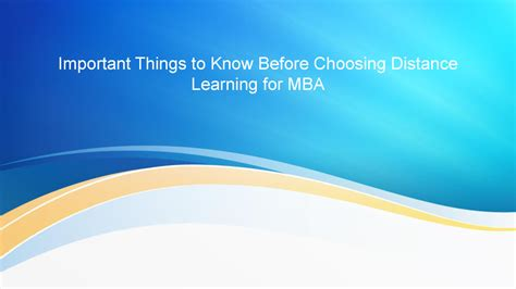 Best Distance Learning Mba by Best Distance Learning Mba Course Authorstream