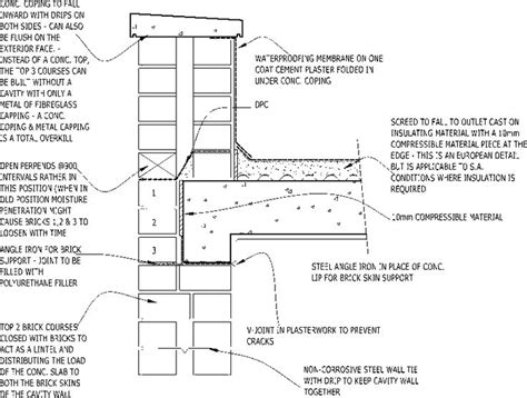 Parapet Detail Section by Concrete Parapet Coping Construction Detail Construction