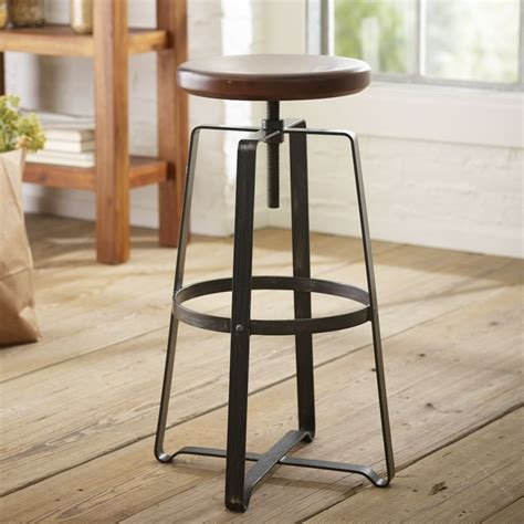 Industrial Kitchen Stools by Adjustable Industrial Stool West Elm Uk