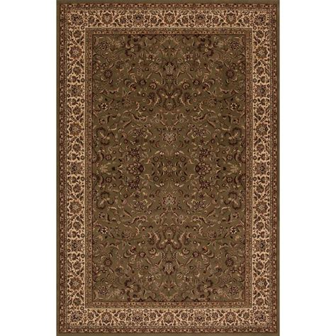Concord Global Trading Persian Classics Kashan Green 5 Ft Classics Rugs