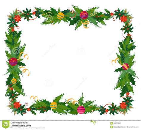 border decorations merry border and decoration frame stock vector