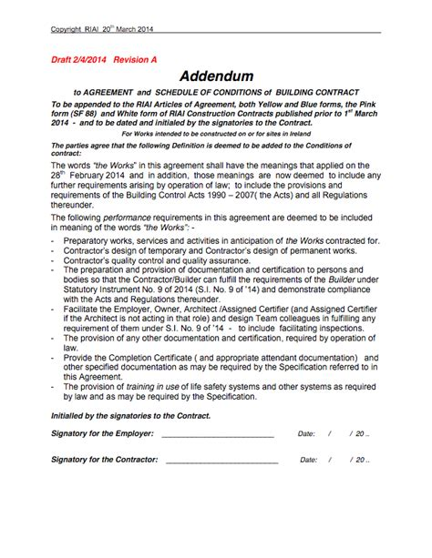 Offer Letter Addendum Post 5 Addendum To Riai Contracts Bregsforum