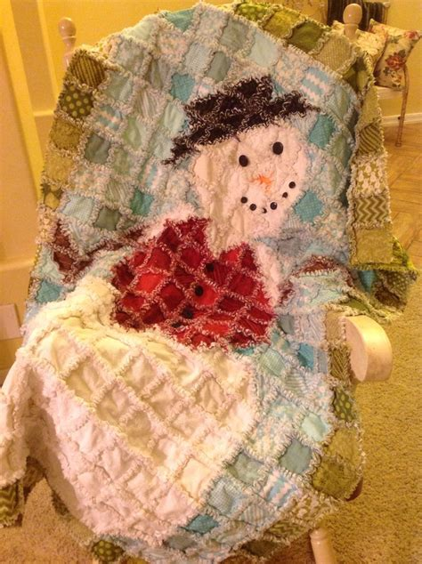 Snowman Rag Quilt Pattern by Pin By Gaye Higley On Quilts Stuff