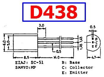 d438 datasheet vcbo 100v 0 7a npn transistor sanyo