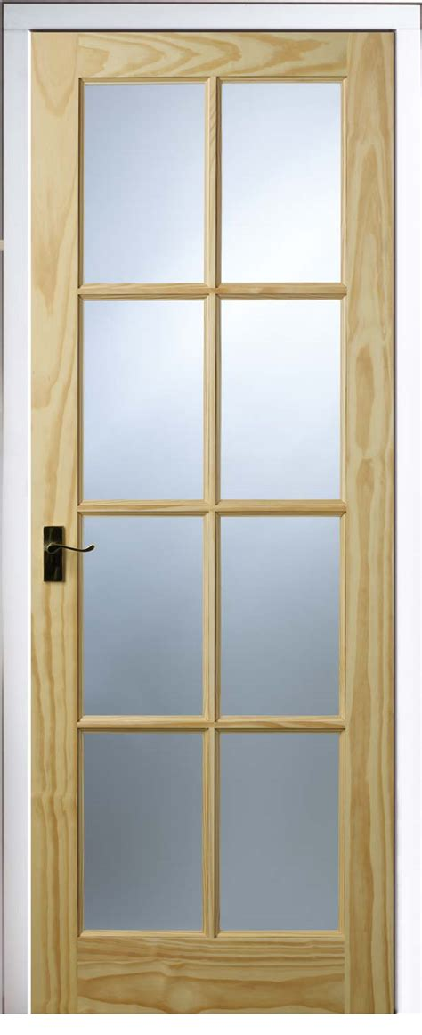 Interior Glazed Doors Uk 6 Panel 8 Light Pine Doors