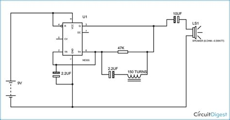 metal detector circuit diagram simple metal detector circuit diagram using 555 timer ic