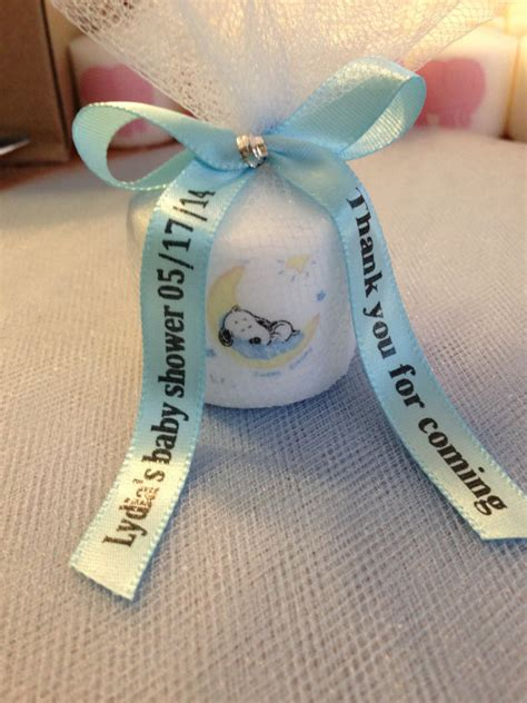 items similar to baby snoopy themed shower favors bridal