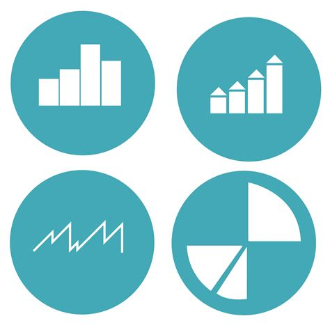 graph amp chart circles icon pack vector download