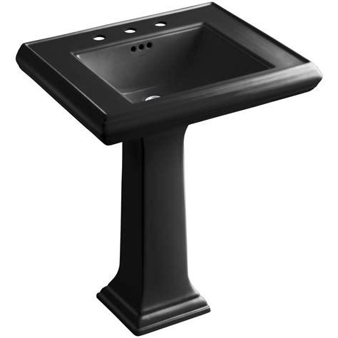 Kohler Pedastal Sink by Kohler Memoirs Ceramic Pedestal Bathroom Sink In Black