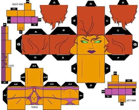 Cubee Papercraft - cubee craft starfire dc heroes by handita2006 on