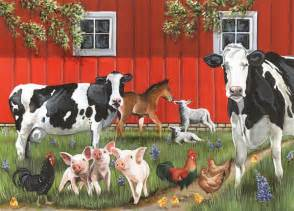 red barn farm tray puzzle outset media games