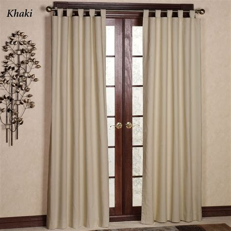 tabbed curtains weathermate solid thermalogic tm tab top curtains