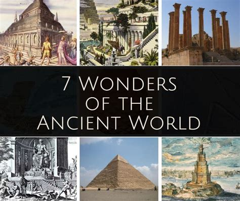a history of the world in seven cheap things books seven wonders of the ancient world complete list and history