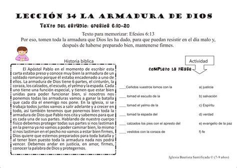 sopa de letras de la armadura de dios 2010 iglesia de ni 241 os