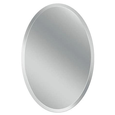 oval frameless bathroom mirror head west 24 in x 36 in frameless vanity oval mirror