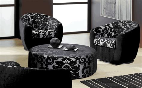 black pattern sofa trend home interior design 2011 modern living room