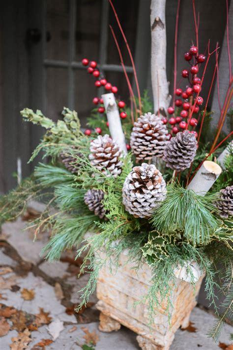 outdoor christmas planters  evergreen