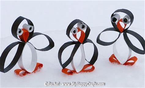 Penguin Toilet Paper Roll Craft - 25 penguin projects for about family crafts